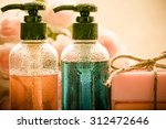 body care product shower... | Shutterstock . vector #312472646