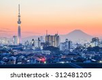 tokyo city view  and mountain... | Shutterstock . vector #312481205