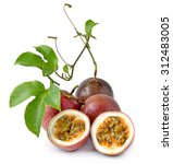 passion fruit isolated on white ... | Shutterstock . vector #312483005