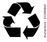 recycle sign | Shutterstock .eps vector #312484865