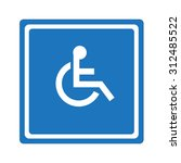 disabled sign   symbol handicap ... | Shutterstock .eps vector #312485522