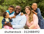 beautiful diverse family. | Shutterstock . vector #312488492