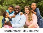 beautiful diverse family. | Shutterstock . vector #312488492