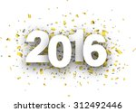 happy 2016 new year with... | Shutterstock .eps vector #312492446