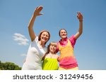 mother and two daughter fun | Shutterstock . vector #31249456