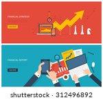 flat design modern vector... | Shutterstock .eps vector #312496892