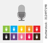 microphone icon   vector | Shutterstock .eps vector #312497198