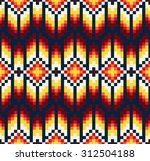tribal seamless colorful... | Shutterstock .eps vector #312504188