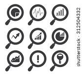 data analytics icons | Shutterstock .eps vector #312504332