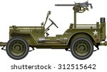 Military Vehicle With Mounted...