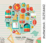 vector school illustration on... | Shutterstock .eps vector #312516662
