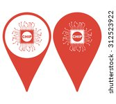 map pointer. vector chip icon ...