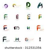 set of new universal company... | Shutterstock . vector #312531356