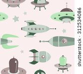 retro space pattern | Shutterstock .eps vector #312534086