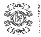 repair service. gears  wrenches ... | Shutterstock .eps vector #312539246