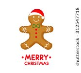 gingerbread man is decorated... | Shutterstock .eps vector #312547718