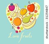 fruit heart   Shutterstock . vector #31254847