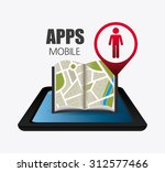 mobile app design  vector... | Shutterstock .eps vector #312577466