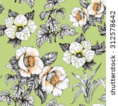 seamless floral pattern on... | Shutterstock . vector #312578642