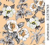 seamless floral pattern on... | Shutterstock . vector #312578765