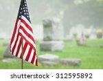 American Veteran Flag In A...