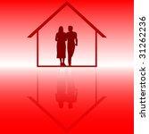 couple inside of house | Shutterstock .eps vector #31262236