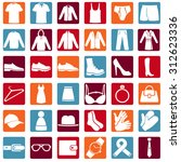 vector set of wear icons | Shutterstock .eps vector #312623336