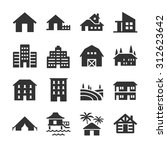 property type icon set.... | Shutterstock .eps vector #312623642