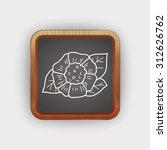 flower doodle | Shutterstock . vector #312626762