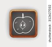 apple doodle | Shutterstock . vector #312627032