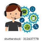 Customer Service Design  Vector ...
