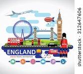 london  england vector travel... | Shutterstock .eps vector #312647606
