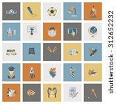 school and education icon set.... | Shutterstock . vector #312652232