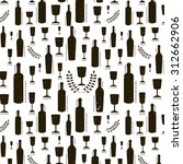 seamless pattern with wine... | Shutterstock .eps vector #312662906