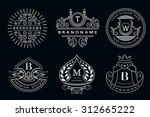 monogram design elements ... | Shutterstock .eps vector #312665222