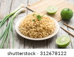instant noodles with side dish | Shutterstock . vector #312678122