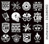 vinyl stickers and badges on...   Shutterstock .eps vector #312680402