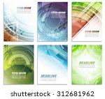 set of abstract business flyer... | Shutterstock .eps vector #312681962