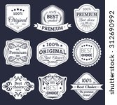 premium logos set. best choice... | Shutterstock .eps vector #312690992
