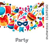 carnival show and party... | Shutterstock .eps vector #312693182