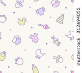 seamless pattern. pastel colors....   Shutterstock .eps vector #312694052