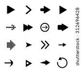 arrow sign icon set   vector   Shutterstock .eps vector #312696428