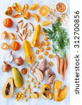 collection of fresh orange... | Shutterstock . vector #312700856