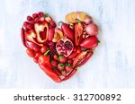 collection of fresh red... | Shutterstock . vector #312700892