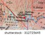 map view of las vegas | Shutterstock . vector #312725645