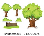 tree and timber vector | Shutterstock .eps vector #312730076