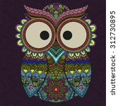 Boho Ornamental Owl...