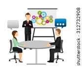 social media design  vector...   Shutterstock .eps vector #312732908