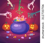 trick or treat. halloween... | Shutterstock .eps vector #312733706