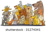 Stock vector huge group of cats and dogs 31274341